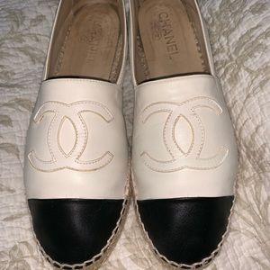 Chanel Lambskin Espadrilles 100% authentic